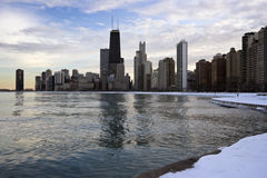 Winter in Downtown Chicago Royalty Free Stock Images