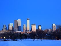 Winter in downtown Minneapolis Stock Images