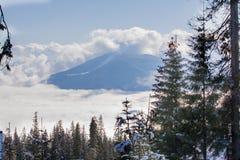 Winter Dragobrat Ukraine. Dragobrat Ukraine. Alpine scenic Ski resort Royalty Free Stock Photo