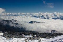 Winter Dragobrat Ukraine. Dragobrat Ukraine. Alpine scenic Ski resort Stock Photo