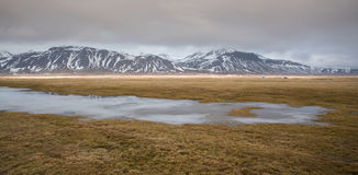 Winter dramatic  landscape in Iceland Royalty Free Stock Photography