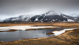 Winter dramatic landscape in Iceland Stock Photos