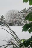Winter draußen und zuhause Lizenzfreie Stockfotografie