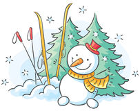 Winter drawing Royalty Free Stock Images