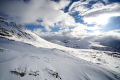 Winter dream, snowy mountains Stock Photography