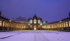 Winter Dresden nach Sonnenuntergang Stockfoto