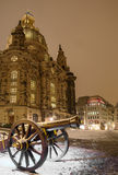 Winter Dresden nach Sonnenuntergang Lizenzfreies Stockfoto