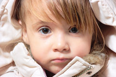 Winter-dressed baby girl portrait Royalty Free Stock Images