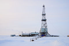 Winter Drilling Rig Stock Photos