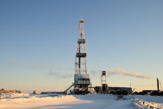 Winter Drilling Rig Stock Photo