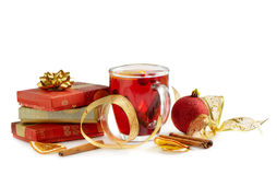 Winter drink and christmas decoration Royalty Free Stock Images