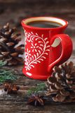Winter drink: cup of coffee Royalty Free Stock Image