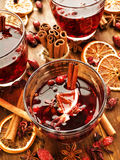 Winter drink Stock Images