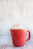 Winter Drink Hot Chocolate and Whipped Cream Royalty Free Stock Photo