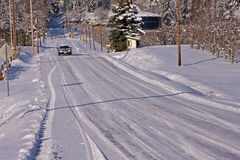 Winter Drive royalty free stock images