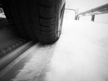 Winter drive Royalty Free Stock Photography