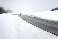 Winter drive Stock Photos