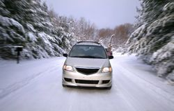 Winter Drive stock images