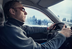 Winter driver Royalty Free Stock Images