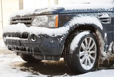 Winter driving Royalty Free Stock Photos