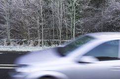 Winter driving Stock Photography