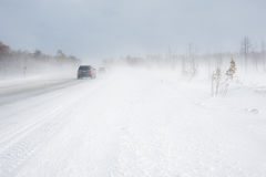 Winter driving. Royalty Free Stock Photos