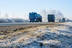 Winter driving Stock Photos