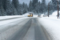 Winter driving conditions Royalty Free Stock Images