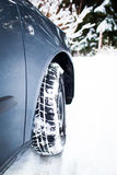 Winter driving conditions Stock Photos