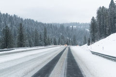 Winter driving conditions Royalty Free Stock Photo