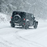 Winter Driving - Heavy Snowfall Stock Image