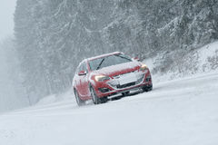 Winter Driving - Heavy Snowfall Royalty Free Stock Images