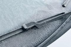 Winter Driving - Icy Windshield Royalty Free Stock Images