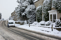 Winter driving - North Yorkshire in the UK Stock Photography