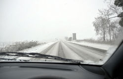 Winter driving Stock Image