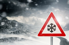 Winter Driving Royalty Free Stock Images