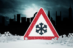 Winter Driving - warning sign Stock Images