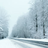 Winter Driving - Winter Road Royalty Free Stock Photography