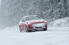 Winter Driving - Winter Road Royalty Free Stock Photo