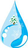 Winter drop (vector) Stock Images