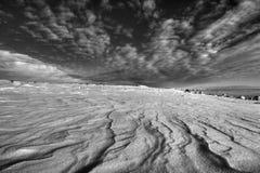 Winter durch das Meer Stockbild