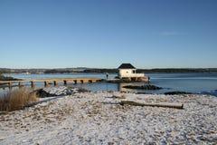 Winter durch das Meer Stockfotos
