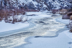 Free Winter Dusk Over A River Stock Photo - 37119750