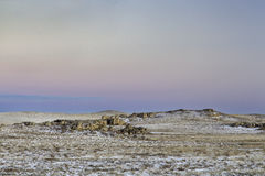 Winter dusk over prairie Royalty Free Stock Photography