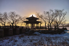 The winter dusk in Summer Palace Stock Image