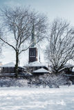 Winter dutch village Royalty Free Stock Photo