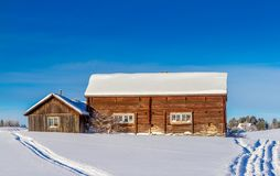 Dvärsätt during the winter. Winter in Dvärsätt, in Jämtland in the northern part of Sweden Royalty Free Stock Images