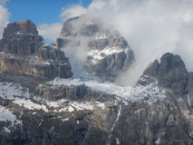 Winter and early spring in snow covered dolomites Royalty Free Stock Photos