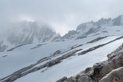 Winter and early spring in snow covered dolomites Royalty Free Stock Photography