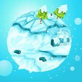 Winter earth Stock Photo